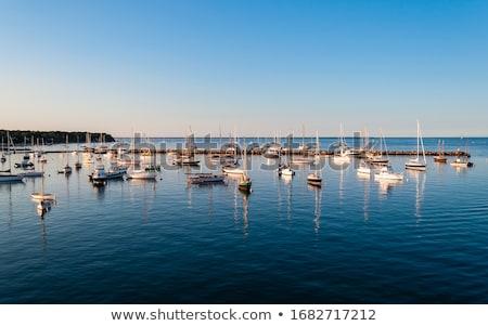 yat · kıyı · deniz · manzarası · yaz · mavi · seyahat - stok fotoğraf © epstock