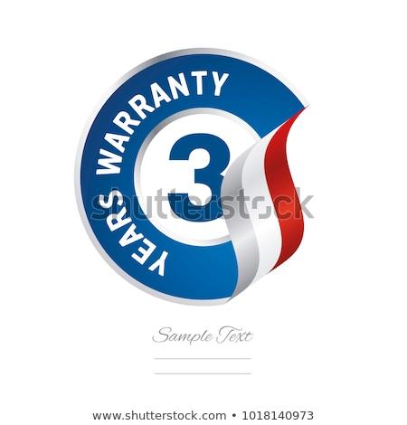Anos garantia azul vetor ícone projeto Foto stock © rizwanali3d