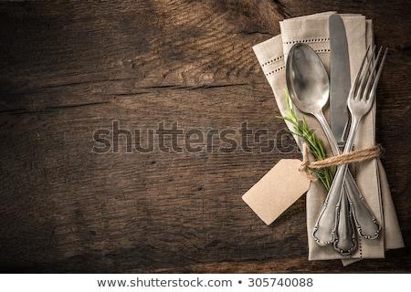 Сток-фото: вилка · элегантный · филиала · старые