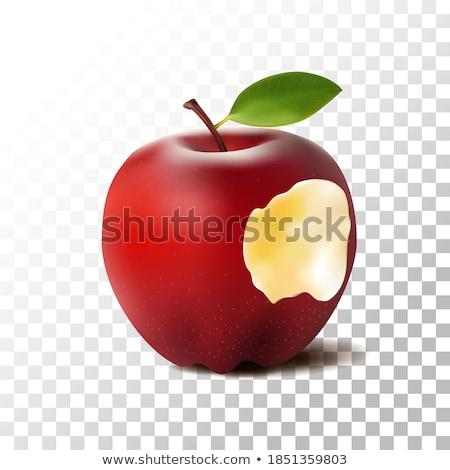verde · maçã · morder · isolado · branco - foto stock © mikko