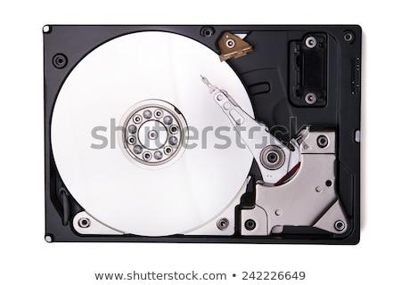 Жесткий диск диск изолированный белый реальный Сток-фото © netkov1