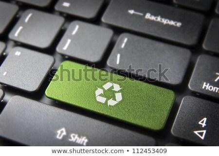 közelkép · számítógép · billentyűzet · kulcs · újrahasznosít · üzlet · internet - stock fotó © fuzzbones0