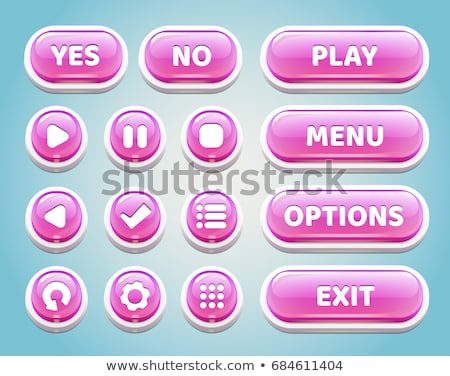 Pause Pink Vector Button Icon Stock photo © rizwanali3d