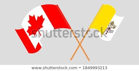 Canadá ver Cidade do Vaticano bandeiras quebra-cabeça Foto stock © Istanbul2009