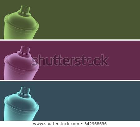 Graffiti półtonów banner niebieski fioletowy zielone Zdjęcia stock © Melvin07