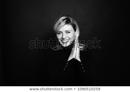 Black&white portrait of a charming blonde Stock photo © majdansky