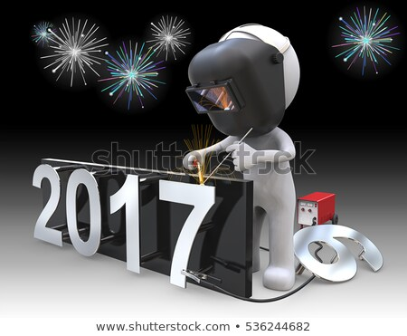 3d people working year 2017 Stock photo © ribah