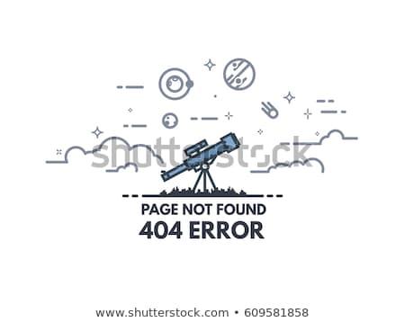 erro · 404 · página · não · 3D - foto stock © lightsource