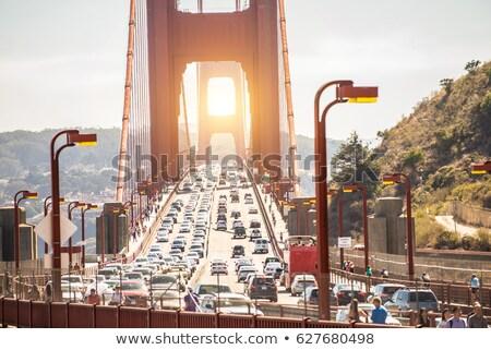 városi · San · Francisco · házak · égbolt · iroda · naplemente - stock fotó © meinzahn