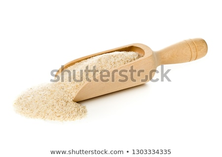 Psyllium seeds on wooden spoon Stock photo © joannawnuk