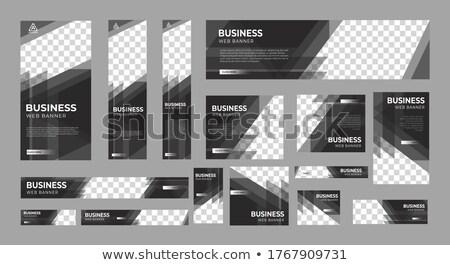 Vízszintes üzlet bannerek szett színes pénzügy Stock fotó © Genestro