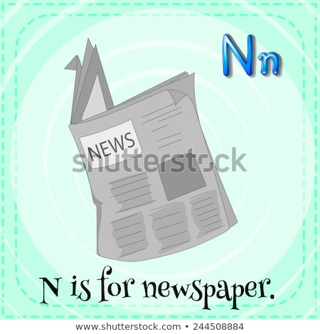 Flashcard letter N is for news Stock photo © bluering