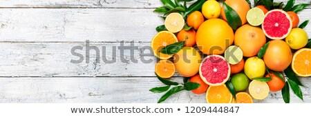 混合した 柑橘類 ジュース ガラス スライス ストックフォト © zhekos