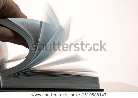 libro · viejo · rápido · papel · educación · blanco - foto stock © klss