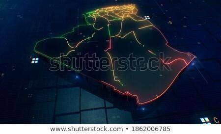 アルジェリア スペース 赤 軌道 3次元の図 ストックフォト © Harlekino