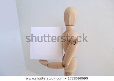 Man Posing Beside a White Board Stock photo © lenm