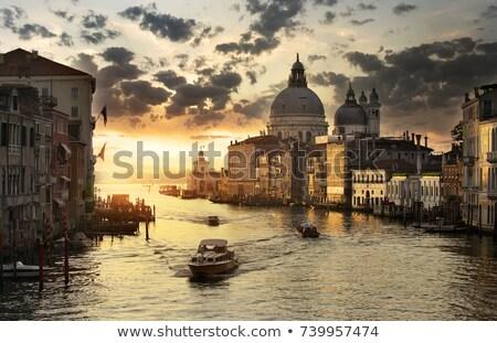 午前 ヴェネツィア 運河 建築の ランドマーク イタリア ストックフォト © SergeyAndreevich