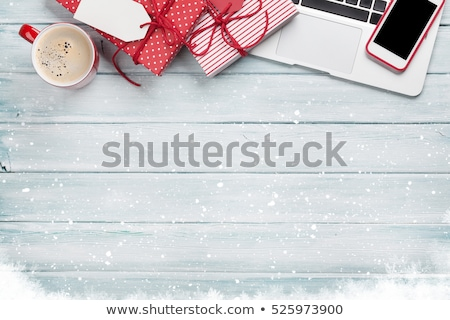 Natale · biglietto · d'auguri · natale · femminile · mani - foto d'archivio © karandaev