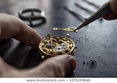 clockmaker fixing an opened watch Stock photo © Giulio_Fornasar