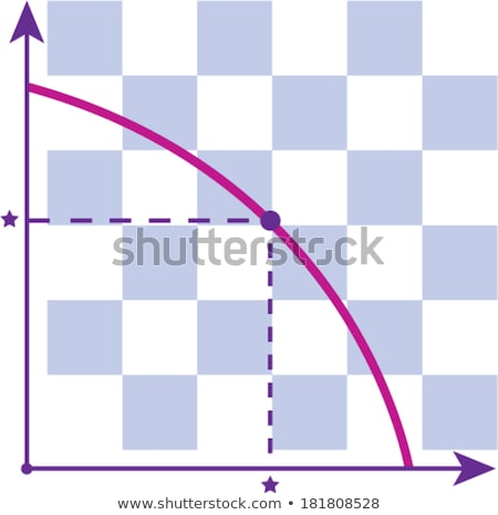 Production possiblities frontier vector graph illustration  Stock photo © vectorworks51