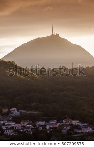 Puy-de-Dome volcano seen from Clermont-Ferrand Stock photo © benkrut