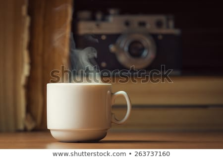 white coffee and old camera Stock photo © nito