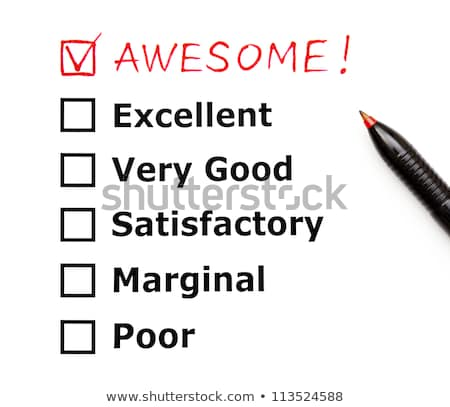 awesome customer service evaluation form stock photo © ivelin