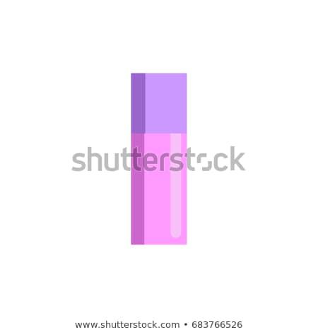 lipgloss · geïsoleerd · witte · vrouw · gezicht · mode - stockfoto © maryvalery