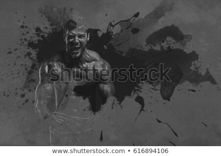 Athletic handsome man. Digital art Stock photo © amok