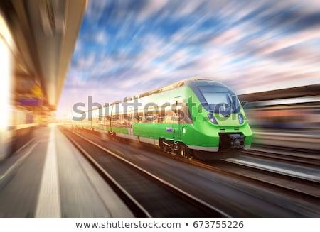 Trein groene kleur illustratie ontwerp achtergrond Stockfoto © bluering