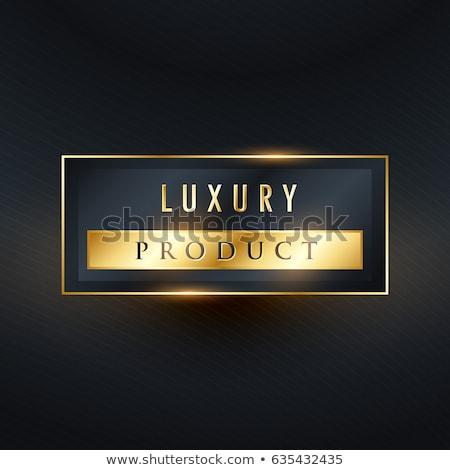 Luksusowe produktu premia etykiety projektu prostokąt Zdjęcia stock © SArts
