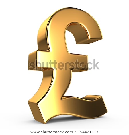 Altın pound imzalamak altın yalıtılmış beyaz Stok fotoğraf © Oakozhan