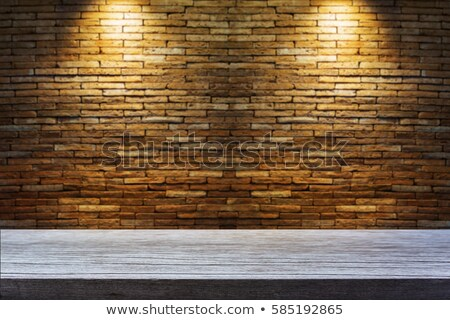 Lots of powerful lamps on the wooden stage Stock photo © konradbak