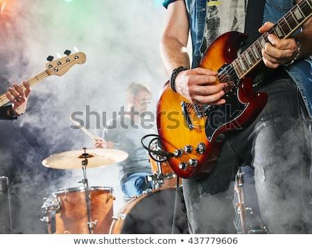 Müzisyen şarkı söyleme gece kulübü mikrofon Stok fotoğraf © wavebreak_media
