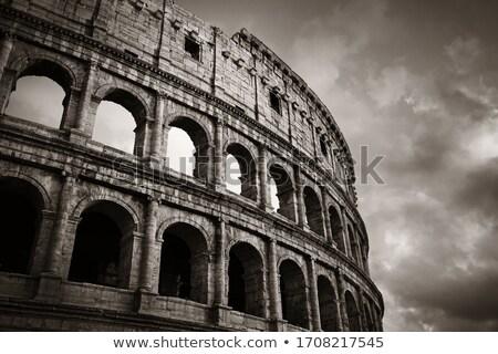Colosseum · közelkép · kilátás · világ · tájékozódási · pont · ovális - stock fotó © ankarb