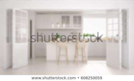 interior of an abstract kitchen blur stock photo © artjazz