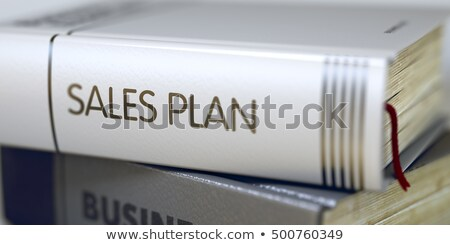 Sales Plan Concept on Book Title. 3D Render. Stock photo © tashatuvango