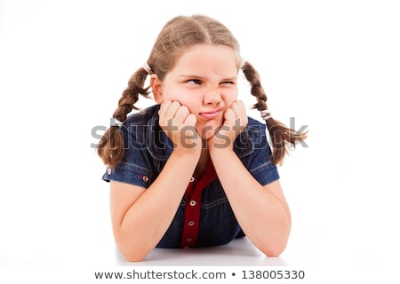 A little girl looking grumpy Stock photo © IS2