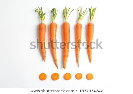 Placa zanahorias crudo hoja verde suelo Foto stock © photohome