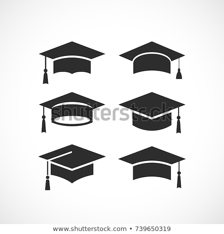 Akademicki ukończeniu placu cap odizolowany biały Zdjęcia stock © konturvid