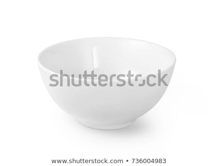 Boş beyaz çanak yalıtılmış üst görmek Stok fotoğraf © ThreeArt