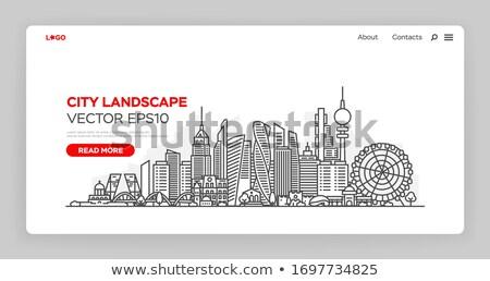 Toekomst straat teken lijn illustrator ontwerp grafische Stockfoto © alexmillos