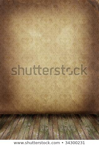 Velho parede piso vazio assento projeto Foto stock © rufous