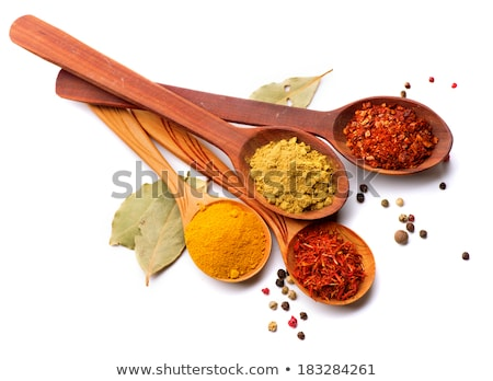bowls and spoons with spices stock photo © dash