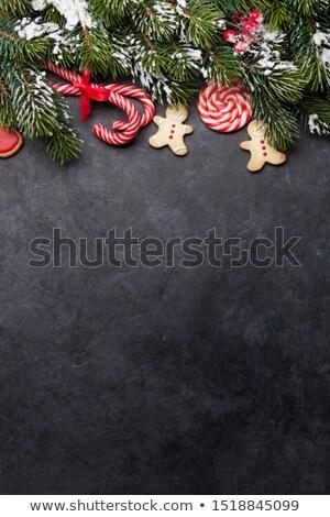 Natale · lavagna · scatola · regalo · candy - foto d'archivio © karandaev