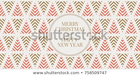 seamless pattern with christmas postcard stock photo © lemony