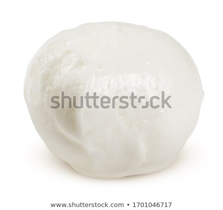Small mozzarella balls pieces, paths Stock photo © maxsol7