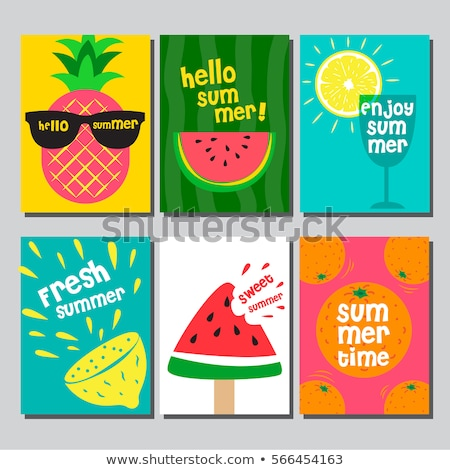 Summer Season Pineapple Set Vector Illustration Stock photo © robuart