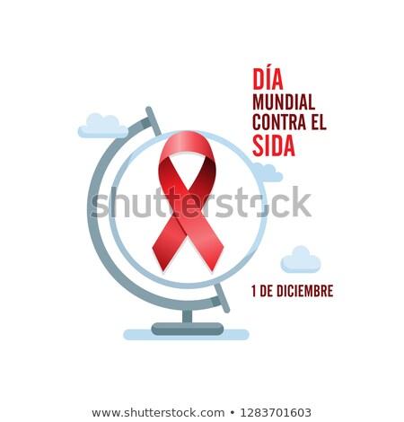 AIDS · tudatosság · vörös · szalag · világ · nap · orvosi - stock fotó © imaagio