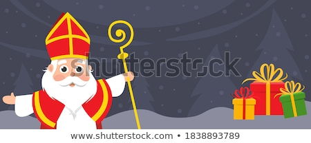 веселый · Рождества · с · Новым · годом · приветствие · карт · Дед · Мороз - Сток-фото © robuart